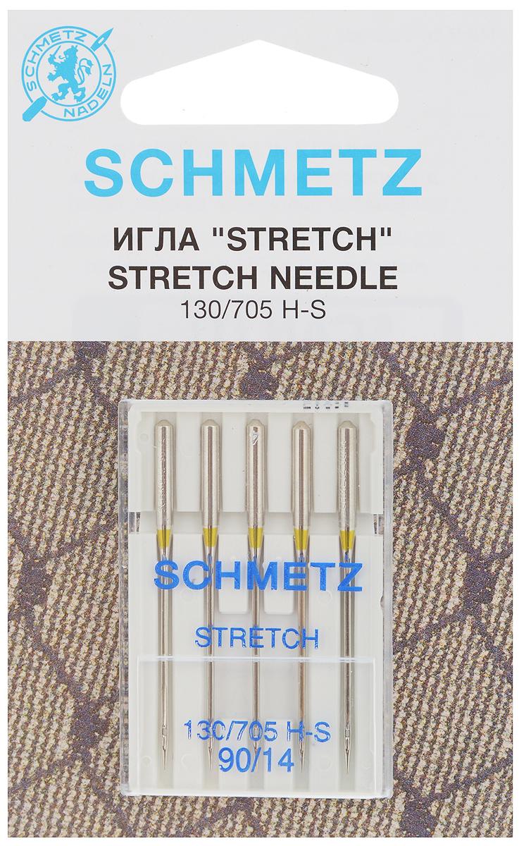 Набор игл Schmetz Stretch, №90, 5 шт22:80.FB2.VDSНабор Schmetz Stretch состоит из пяти игл для большинства бытовых швейных машин. Иглы со средним шарообразным острием, специальной конструкцией ушковой части и выемкой на её стержне. Предназначены для эластичных и высокоэластичных материалов, таких как шёлковый джерси и лайкра. Комплектация: 5 шт. Размер игл: №90. Стандарт: 130/705 H-S.