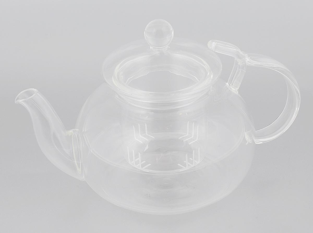 Чайник заварочный Mayer & Boch, с фильтром, 650 мл. 24939CM000001328Заварочный чайник Mayer & Boch, выполненный из термостойкого боросиликатного стекла, предоставит вам все необходимые возможности для успешного заваривания чая. Изделие оснащено ручкой, крышкой и фильтром, который задерживает чаинки и предотвращает их попадание в чашку. Чай в таком чайнике дольше остается горячим, а полезные и ароматические вещества полностью сохраняются в напитке. Эстетичный и функциональный чайник будет оригинально смотреться в любом интерьере. Не рекомендуется мыть в посудомоечной машине.Диаметр чайника (по верхнему краю): 6 см. Высота чайника (без учета ручки и крышки): 8,5 см. Высота фильтра: 6,5 см.