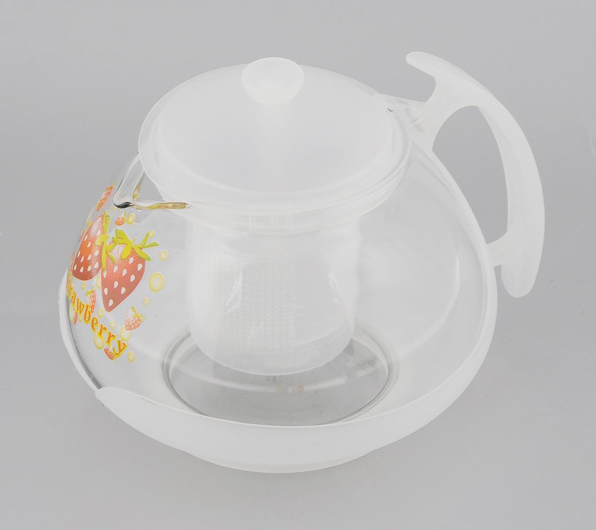 Чайник заварочный Mayer & Boch, с фильтром, цвет: прозрачный, белый, 700 мл. 20222022Заварочный чайник Mayer & Boch изготовлен из жаропрочного стекла и полипропилена. Изделие оснащено сетчатым фильтром из пищевого полипропилена (пластика), который задерживает чаинки и предотвращает их попадание в чашку, а прозрачные стенки дадут возможность наблюдать за насыщением напитка. Чай в таком чайнике дольше остается горячим, а полезные и ароматические вещества полностью сохраняются в напитке. Диаметр чайника (по верхнему краю): 8 см. Высота чайника (без учета крышки): 9,5 см. Высота фильтра: 6,5 см.