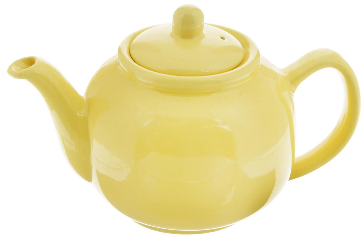 Чайник заварочный Loraine, цвет: желтый, 940 мл24868Заварочный чайник Loraine изготовлен из высококачественной доломитовой керамики высокого качества без примеси ПФОК. Глазурованное покрытие делает поверхность абсолютно гладкой и легкой для чистки. Изделие прекрасно подходит для заваривания вкусного и ароматного чая, травяных настоев. Оригинальный дизайн сделает чайник настоящим украшением стола. Он удобен в использовании и понравится каждому. Можно мыть в посудомоечной машине и использовать в микроволновой печи. Диаметр чайника (по верхнему краю): 9 см. Высота чайника (без учета крышки): 11,5 см.