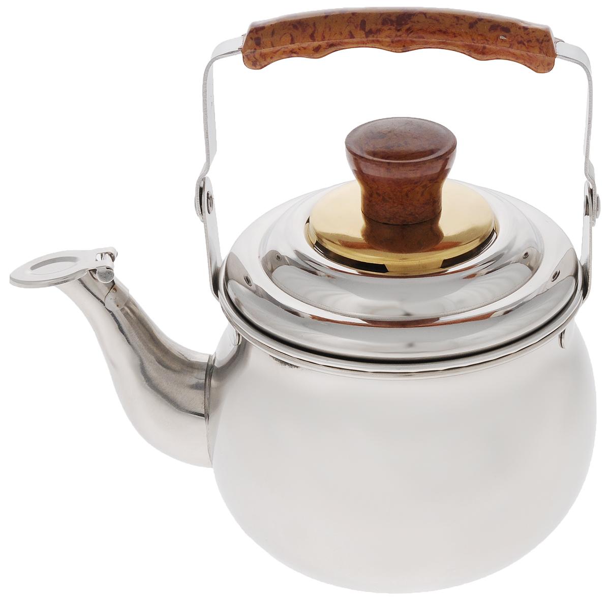 Чайник заварочный Mayer & Boch, со свистком, с фильтром, 700 мл23509Заварочный чайник Mayer & Boch выполнен из высококачественной нержавеющей стали, что обеспечивает долговечность использования. Эргономичная подвижная ручка из бакелита, декорированная под дерево, делает использование чайника очень удобным и безопасным. Чайник снабжен съемным фильтром для чая и свистком, который подскажет, когда вода закипела. В таком чайнике очень удобно готовить заварку прямо на газу. Подходит для использования на электрических, газовых, стеклокерамических плитах. Можно мыть в посудомоечной машине. Диаметр чайника (по верхнему краю): 10,5 см. Высота чайника (без учета ручки и крышки): 8 см. Высота фильтра: 4,5 см. УВАЖАЕМЫЕ КЛИЕНТЫ! Обращаем ваше внимание, что объем чайника измерен по факту, с учетом максимального наполнения до кромки.