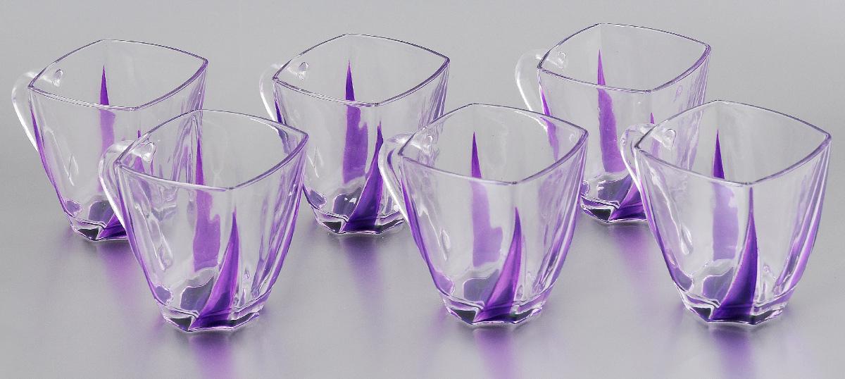 Набор чашек Loraine, цвет: прозрачный, фиолетовый, 180 мл, 6 шт24079Набор Loraine состоит из 6 чашек, выполненных из высококачественного стекла. Изделия, декорированные оригинальным рельефом, удобны и практичны в использовании. Они излучают приятный блеск и издают мелодичный звон. Чашки подходят для горячих и холодных напитков. Такой набор впишется в любой интерьер, а также станет отличным подарком на любой праздник. Не рекомендуется мыть в посудомоечной машине. Размер чашки (по верхнему краю): 6,9 х 6,9 см. Высота чашки: 7,9 см.