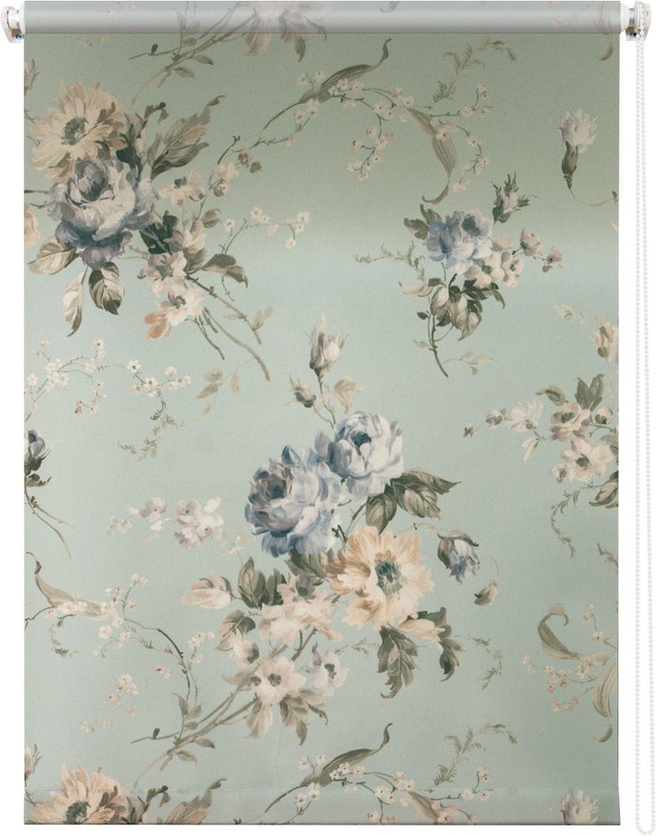 Штора рулонная Уют Розарий, цвет: голубой, бежевый, 140 х 175 см62.РШТО.8957.140х175Штора рулонная Уют Розарий выполнена из прочного полиэстера с обработкой специальным составом, отталкивающим пыль. Ткань не выцветает, обладает отличной цветоустойчивостью и хорошей светонепроницаемостью. Изделие оформлено нежным цветочным рисунком, отлично подойдет для спальни, гостиной, кухни или столовой. Штора закрывает не весь оконный проем, а непосредственно само стекло и может фиксироваться в любом положении. Она быстро убирается и надежно защищает от посторонних взглядов. Компактность помогает сэкономить пространство. Универсальная конструкция позволяет крепить штору на раму без сверления, также можно монтировать на стену, потолок, створки, в проем, ниши, на деревянные или пластиковые рамы. В комплект входят регулируемые установочные кронштейны и набор для боковой фиксации шторы. Возможна установка с управлением цепочкой как справа, так и слева. Изделие при желании можно самостоятельно уменьшить. Такая штора станет прекрасным элементом декора окна и...