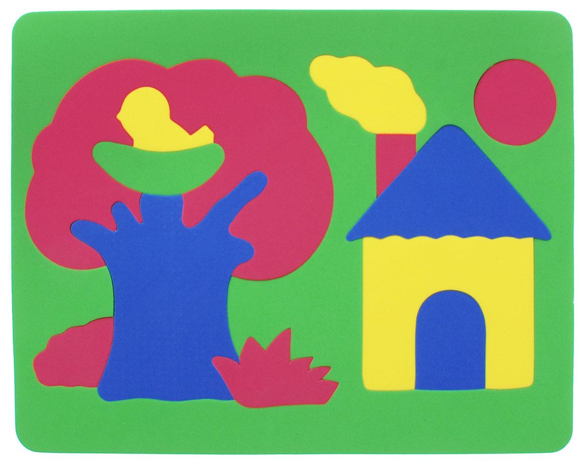 Фантазер Пазл для малышей Дом и дерево цвет основы зеленый 063551Д_зеленый