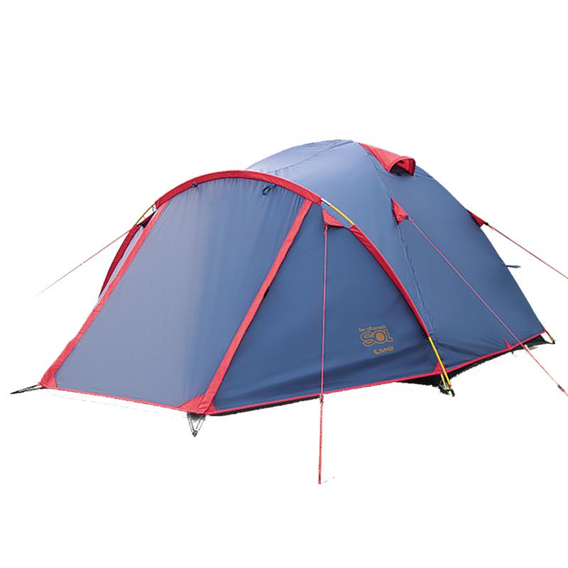 Палатка Sol Camp 3, цвет: синий. SLT-007. 06АМNB-503Палатка Sol Camp 3 синего цвета. Особенности: - Двухслойная палатка с двумя входами- Увеличенный тамбур- Два вентиляционных клапана- Все швы проклеены- Идеальна для серьезных туристических походов в любое время года и при любых погодных условиях Размер: 370 х 230 смКоличество мест: 3Количество входов: 2Полный вес: 4 кгКоличество тамбуров: 2Размер спального места: 210 х 210 смРазмер тамбура: 120 + 40 смВысота: 130 смРазмер коробки: 60х 34х 34 смВес коробки: 17,1 кгТент: 100% Полиэстер 75D/190T RW PU 3000 мм в стВнутренняя палатка: 100% дышащий полиэстерКаркас: фибергласс 7,9 ммДно: 100% Полиэстер 75D/190T WR PU 5000 мм в ст