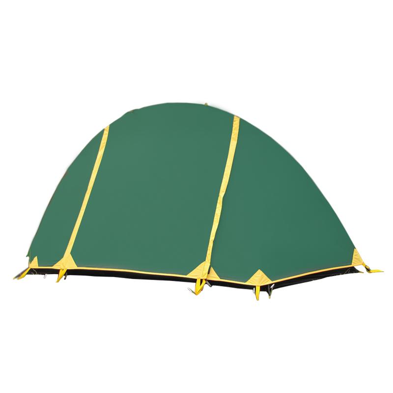Палатка Тramp Bicycle light 1, цвет: зеленый. TRT-010. 04TRT-010.04Палатка Tramp Bicycle light зеленого цвета. Особенности: - Двухслойная палатка с двумя входами - Внешний тент палатки устойчив к ультрафиолетовому излучению - Внешний тент имеет пропитку, задерживающую распространение огня -Два вентиляционных клапана - Все швы проклеены - Идеальна для туристических походов в весеннее, летнее и осеннее время Палатки этой серии разработаны для любителей пеших походов или велосипедных путешествий в летнее, весеннее иосеннее время. Пригодятся они также мотоциклистам, и охотникам. Небольшой вес, современные материалы, прочность и поразительное удобство конструкций - все это отлично подойдет для каждого искателя приключений! Размер: 240 х 100 см Количество мест: 1 Количество входов: 2 Полный вес: 1,7 кг Размер спального места: 240 х 100 см Высота: 100 см Размер коробки: 40х 42х 28 см Вес коробки: 12,6 кг Тент: 100% полиэстер 75D/190T RipStop 5000 мм в ст Внутренняя палатка: 100% дышащий полиэстер Каркас:...