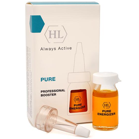 Holy Land Концентрат для защиты и восстановления поврежденной кожи Pure Professional Boosters Energizer 8 млБ63003 мятаКонцентрат для массажа Pure Professional Boosters Energizer. Восстанавливает защитный барьер кожи, улучшает микроциркуляцию и обмен веществ,укрепляет клеточные мембраны, защищает от воздействия свободных радикалов,насыщает витаминами и минералами, стабилизирует иммунную систему кожи,стимулирует процесс обновления клеток,обладает успокаивающим действием. Стимулирует энергетику кожи, делая ее молодой и сияющей.Масло сладкого миндаля содержит витамин E, бета-ситостерол, много олеиновой кислоты, благодаря которой легко распределяется по коже и хорошо впитывается. Обладает прекрасными питательными, смягчающими и регенерирующими свойствами. Особенно полезно при кожных раздражениях и шелушениях, для сухой, воспаленной кожи.Масло календулы обладает противовоспалительным и восстанавливающим действием, тонизирует и увлажняет кожу, замедляет процесс старения. Широкий спектр активности экстракта объясняется высоким содержанием в нем каротиноидов (бета-каротина и ликопина), мукополисахаридов, эфирных масел, органических кислот (яблочной, аскорбиновой), флавоноидов и смолМасло авокадо является незаменимым источником витаминов, микроэлементов, и полиненасыщенных жирных кислот (олеиновая, пальмитиновая, линолевая, линоленовая, пальмитолеиновая и стеариновая), витамины A, E, D, B1, B2, K, PP, а также калий, цинк, и сквален. Кроме того, масло авокадо содержит лецитин, много хлорофилла, гистидин, и фитостерины. Это масло признано одним из самых эффективных средств, предназначенных для увлажнения, питания и омоложения кожи лица.Масло облепихи содержит уникальный комплекс витаминов, микроэлементов, аминокислот, органических кислот, липидов и других биологически активных веществ. Облепиха давно известна как противовоспалительное, ранозаживляющее, регенерирующее и витаминизирующее средство. Восстанавливает кожный покров после солнечных и радиационных ожогов, укрепляет защ
