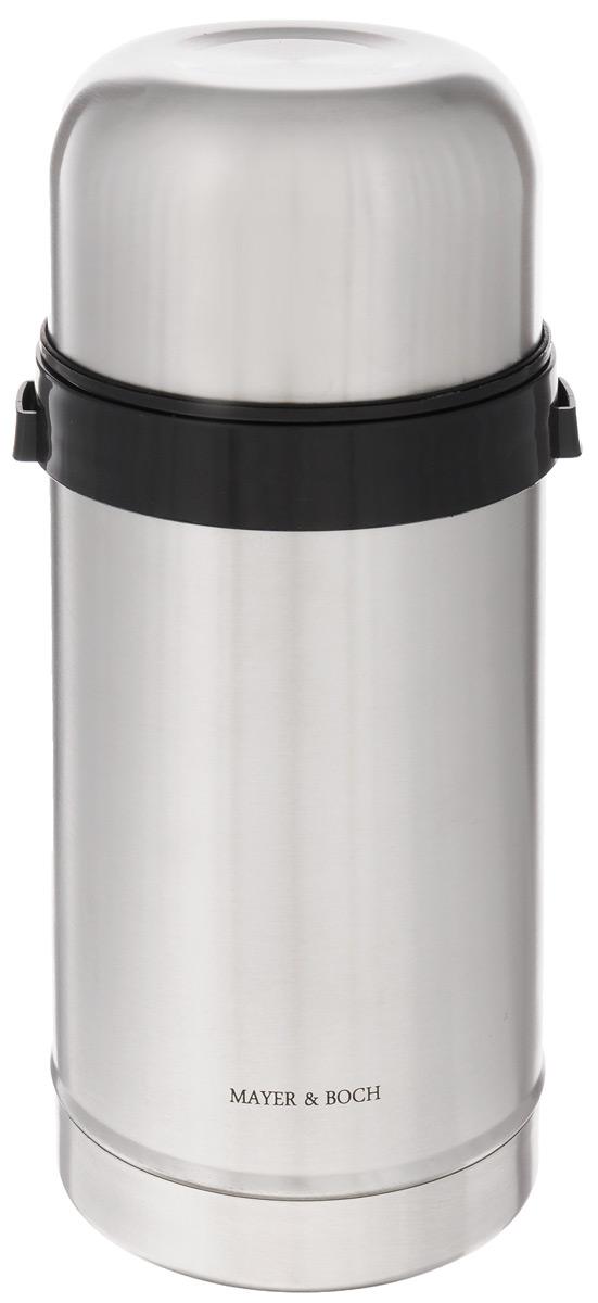 Термос пищевой Mayer & Boch, 1 л115510Термос с широким горлом Mayer & Boch, изготовленный из высококачественной нержавеющей стали 18/10, прост в использовании и многофункционален. Изделие имеет двойные стенки, что позволяет содержимому долго оставаться горячим или холодным. Термос снабжен удобной крышкой-чашкой. Для удобной переноски предусмотрен специальный ремешок. Термос сохраняет температуру горячих или холодных продуктов до 12 часов. Крышка плотно закрывается. Не рекомендуется мыть в посудомоечной машине.Высота (с учетом крышки): 23 см.Диаметр горлышка: 8,5 см.Диаметр чашки: 10,5 см.Высота чашки: 6 см.