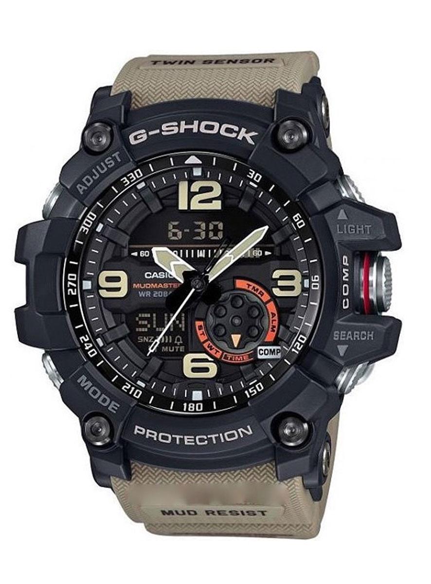 Часы наручные мужские Casio G-Shock, цвет: черный, песочный. GG-1000-1A5GG-1000-1A5Ударопрочность: Ударопрочная конструкция защищает от ударов и вибрации. 5 ежедневных будильников: Будильник напомнит Вам о повторяющихся событиях с помощью звукового сигнала, установленного Вами на определенное время. Вы также можете активировать почасовой сигнал времени, сообщающий о каждом полном часе. Эта модель имеет пять независимых будильников для оповещения о важных встречах. Функция повтора будильника: Каждый раз, когда Вы выключаете звуковой сигнал, он прозвучит повторно спустя несколько минут. 12/24-часовое отображение времени: Отображение времени можно в 12-часовом или 24-часовом формате. Ремешок из полимерного материала: Натуральный полимерный материал является идеальным для изготовления ремешка благодаря своей чрезвычайной прочности и гибкости. Неоновый дисплей: Светящееся покрытие обеспечивает длительную подсветку в темное время суток после короткого воздействия света. Функция мирового времени: Отображение текущего времени в основных городах и конкретных областях по...