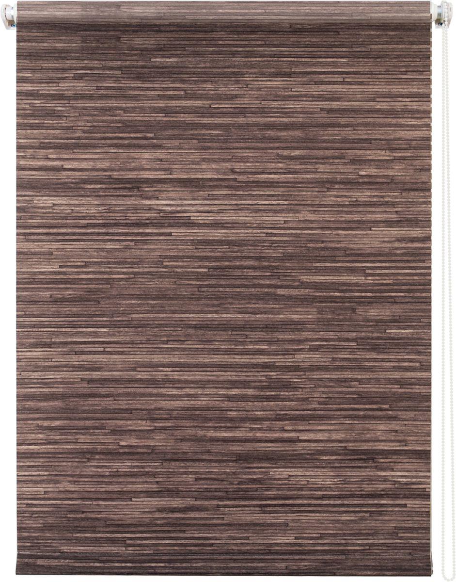 Штора рулонная Уют Натурэль, цвет: шоколад, 50 х 175 см19201Штора рулонная Уют Натурэль выполнена из прочного полиэстера с обработкой специальным составом, отталкивающим пыль. Ткань не выцветает, обладает отличной цветоустойчивостью и хорошей светонепроницаемостью. Изделие выполнено в классическом дизайне, поэтому отлично подойдет и для офиса, и для дома. Штора закрывает не весь оконный проем, а непосредственно само стекло и может фиксироваться в любом положении. Она быстро убирается и надежно защищает от посторонних взглядов. Компактность помогает сэкономить пространство. Универсальная конструкция позволяет крепить штору на раму без сверления, также можно монтировать на стену, потолок, створки, в проем, ниши, на деревянные или пластиковые рамы. В комплект входят регулируемые установочные кронштейны и набор для боковой фиксации шторы. Возможна установка с управлением цепочкой как справа, так и слева. Изделие при желании можно самостоятельно уменьшить. Такая штора станет прекрасным элементом декора окна и гармонично впишется в интерьер любого помещения.
