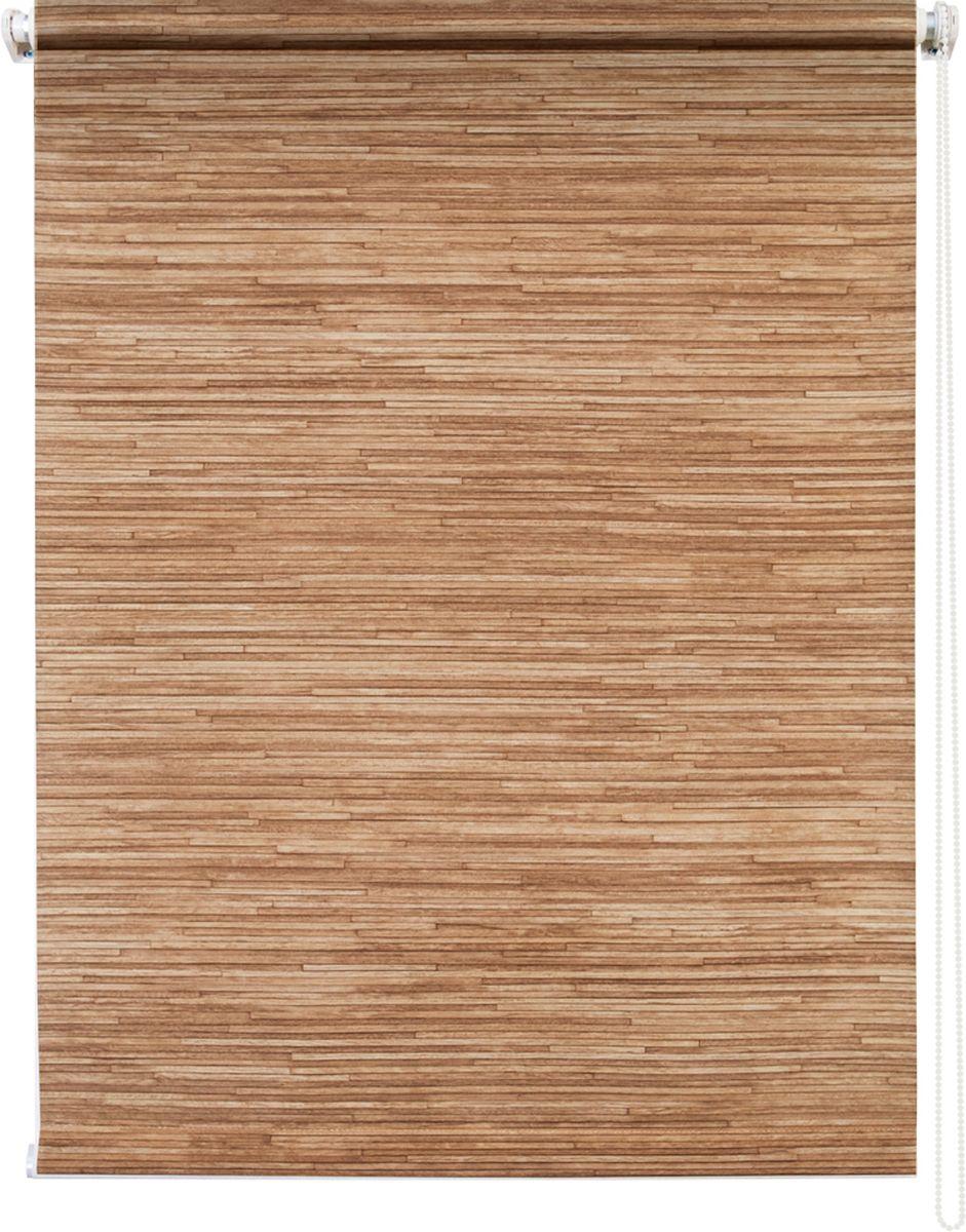 Штора рулонная Уют Натурэль, цвет: коричневый, 80 х 175 см62.РШТО.8961.080х175Штора рулонная Уют Натурэль выполнена из прочного полиэстера с обработкой специальным составом, отталкивающим пыль. Ткань не выцветает, обладает отличной цветоустойчивостью и хорошей светонепроницаемостью. Изделие выполнено в классическом дизайне, поэтому отлично подойдет и для офиса, и для дома. Штора закрывает не весь оконный проем, а непосредственно само стекло и может фиксироваться в любом положении. Она быстро убирается и надежно защищает от посторонних взглядов. Компактность помогает сэкономить пространство. Универсальная конструкция позволяет крепить штору на раму без сверления, также можно монтировать на стену, потолок, створки, в проем, ниши, на деревянные или пластиковые рамы. В комплект входят регулируемые установочные кронштейны и набор для боковой фиксации шторы. Возможна установка с управлением цепочкой как справа, так и слева. Изделие при желании можно самостоятельно уменьшить. Такая штора станет прекрасным элементом декора окна и гармонично...