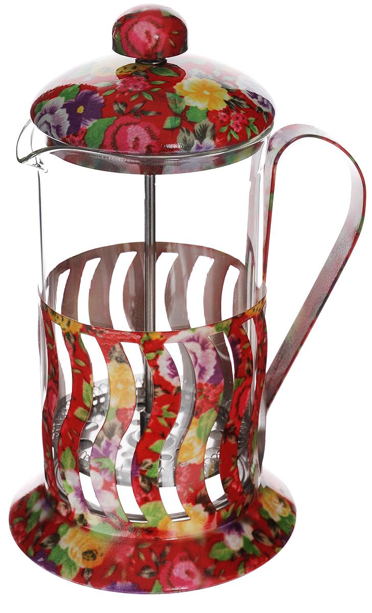 Френч-пресс Mayer & Boch, 600 мл. 2002920029Френч-пресс Mayer & Boch позволит быстро и просто приготовить свежий и ароматный чай или кофе. Корпус изготовлен из высококачественного жаропрочного боросиликатного стекла, устойчивого к окрашиванию, царапинам и термошоку. Фильтр-поршень из нержавеющей стали выполнен по технологии press- up для обеспечения равномерной циркуляции воды. Готовить напитки с помощью френч-пресса очень просто. Насыпьте внутрь заварку и залейте кипятком. Остановить процесс заваривания легко. Для этого нужно просто опустить поршень, и заварка уйдет вниз, оставляя вверху напиток, готовый к употреблению. Заварочный чайник с прессом - это совершенный чайник для ежедневного использования. Практичный и стильный дизайн полностью соответствует последним модным тенденциям в создании предметов кухонной утвари. Можно мыть в посудомоечной машине. Диаметр колбы: 8,5 см. Диаметр основания: 11,5 см. Высота (с учетом крышки): 22 см.