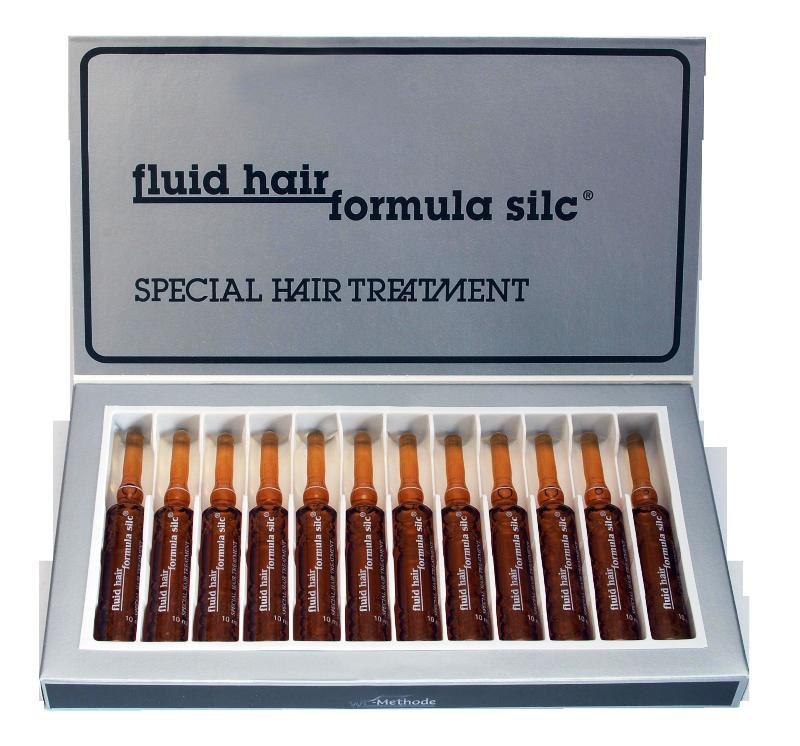 WT-Methode Флюид Хаир Формула Силк для волос Fluid hair formula silc 12х10 млWTM-PLF-0021Секрет Формулы Силк - это содержащийся в ней жидкий кератин и некоторые другие компоненты, помогающие восстановить волос. Кератин имеет способность проникать вглубь волоса и восстанавливать даже те его участки, где структура сильно нарушена. Формула Силк – это быстрое лечение секущихся, тонких и ломких волос. Препарат воздействует не на корневую систему, а непосредственно на структуру самого волоса. Эффект виден уже после первого применения.