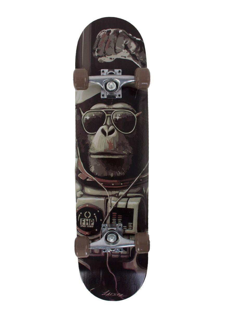 "Скейтборд Larsen ""PARK 2"", 79 см х 20 см, цвет: черный, серый 336059"