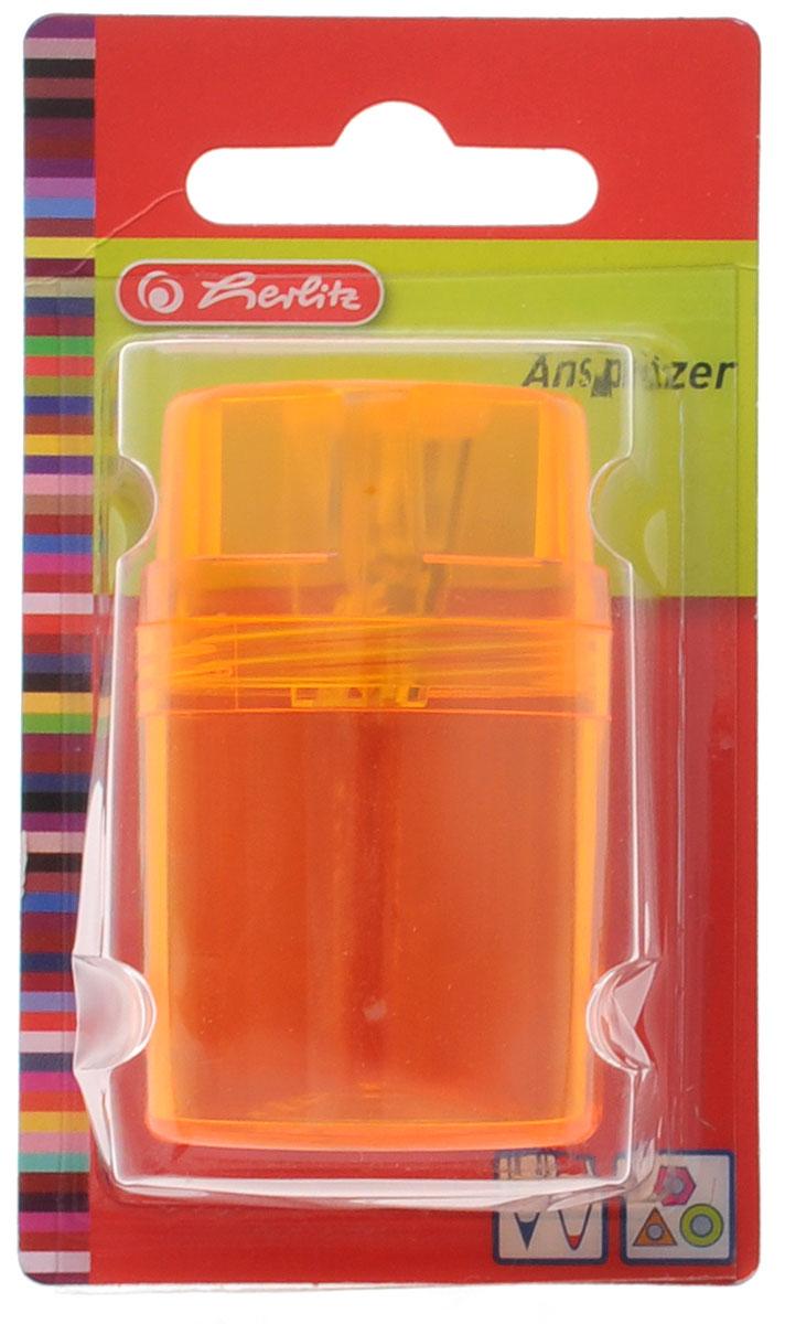 Herlitz Точилка-бочонок цвет оранжевыйFS-36054Точилка-бочонок Herlitz, выполненная из пластика с прозрачным пластиковым корпусом, предназначена для заточки карандашей диаметром 8 мм. Точилка снабжена металлическим лезвием высокого качества. Имеется контейнер для стружки.