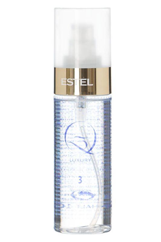 Estel Масло блеск для всех типов волос Q3 LUXURY 100 млQ3L/MМасло-блеск Q3 Luxury – это третий шаг в процедуре экранирования Q3 Therapy от российского бренда Estel Professional. Продукт предназначен для финального придания волосам ослепительного мерцающего блеска и удивительной гладкости. В состав средства входит масло камелии и ореха макадамии, обладающие прекрасными проникающими, кондиционирующими и защитными свойствами. Масло камелии окутывает каждый волосок тончайшим слоем, придающим прядям шелковистость, сияние и потрясающий вид. Надежно уберегает от UV-излучения и температурных нагрузок. Масло ореха макадамии усиливает блеск локонов, восстанавливает поврежденные участки структуры, прекрасно вбирается волосами, насыщая их витаминами, аминокислотами и питательными веществами. Результат: После нанесения масла Q3 Luxury локоны приобретают потрясающий блеск и мягкость кашемира, становятся гладкими и удивительно красивыми. Благодаря эффекту глубокого кондиционирования пряди легко расчесываются, не спутываются, имеют аккуратный...