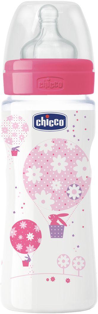 Chicco Бутылочка для кормления Well-Being Girl от 4 месяцев 330 мл