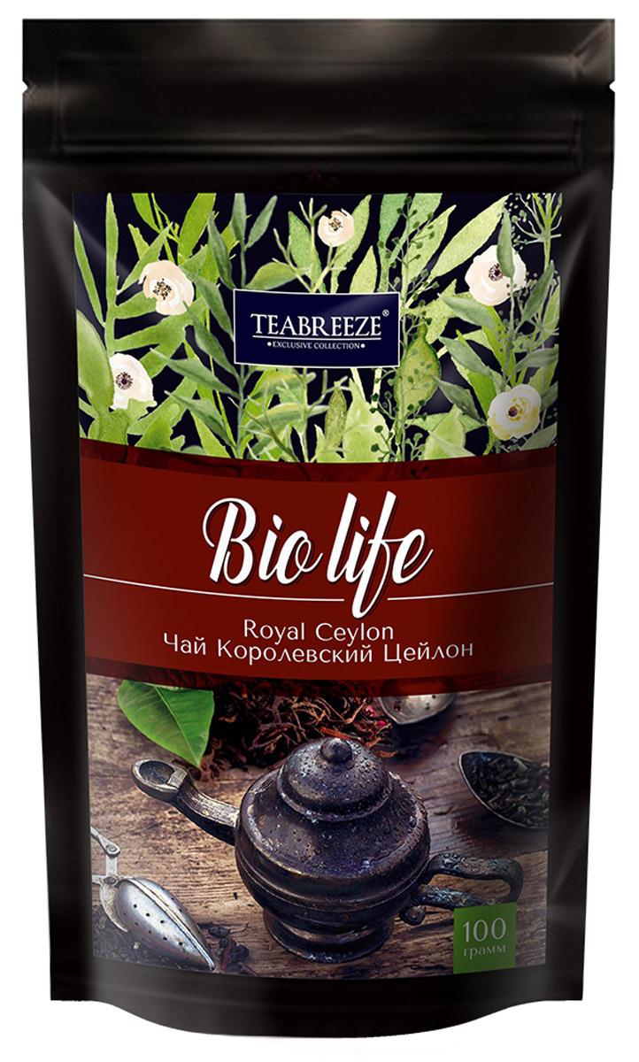 Teabreeze Королевский Цейлон черный листовой чай, 100 г101246Чай Teabreeze Королевский Цейлон пришел к нам c высокогорий острова Цейлон (Шри-Ланка). Его характерный, слегка вяжущий вкус имеет ярко выраженный медовый оттенок. В богатой коллекции черных чаев он занимает особое место благодаря тонкому аромату, который источает золотистый чайный настой. Такое интересное и необычное для цейлонского чая свойство приобретается за счет добавления к высококачественному молодому листу нераспустившихся чайных почек, собранных жарким летом и дающих сильный аромат.