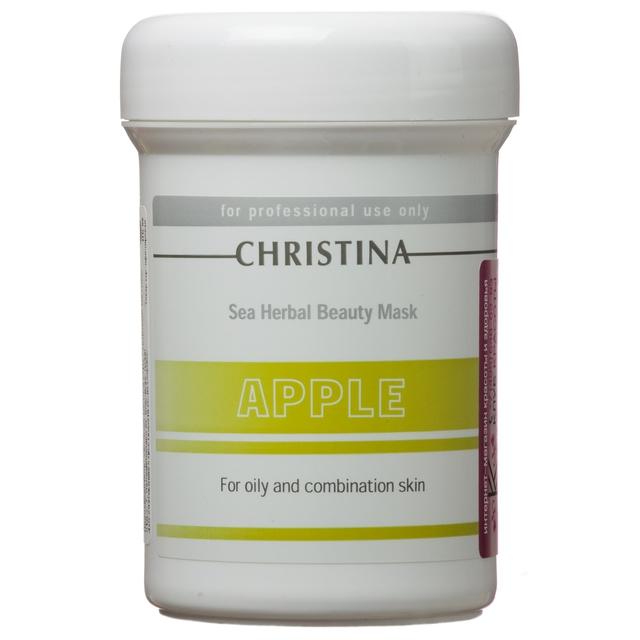 Christina Яблочная маска красоты для жирной и комбинированной кожи Sea Herbal Beauty Mask Green Apple 250 млБ63003 мятаЯблочная маска красоты для жирной и комбинированной кожи Christina Sea Herbal Beauty Mask Green Apple обеспечит увлажнение дегидрированной коже. Не содержащая жиров формула объединила в себе успокаивающие растительные ингредиенты и высокоактивные гидрирующие вещества, которые оказывают оживляющее, освежающее и обновляющее действия на усталую кожу.Яблочная маска красоты для жирной и комбинированной кожи Christina содержит фруктовые кислоты, добываемые из яблока, которые улучшают текстуру кожи и препятствуют появлению признаков старения. Маска не высыхает, обладает кремообразной консистенцией и обеспечивает постоянный питательный эффект.