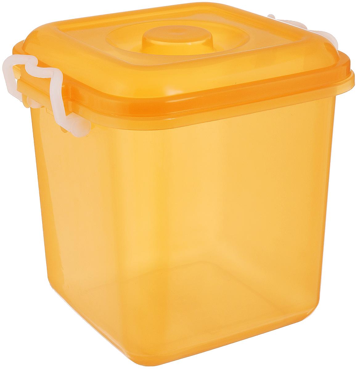 Контейнер для хранения Idea Океаник, цвет: оранжевый, 10 лМ 2857Контейнер Idea Океаник, выполненный из высококачественного пищевого полипропилена, предназначен для хранения различных вещей. Он снабжен плотно закрывающейся крышкой со специальными боковыми фиксаторами. Вместительный контейнер позволит сохранить ваши вещи в порядке, а герметичная крышка предотвратит случайное открывание, а также защитит содержимое от пыли и грязи.