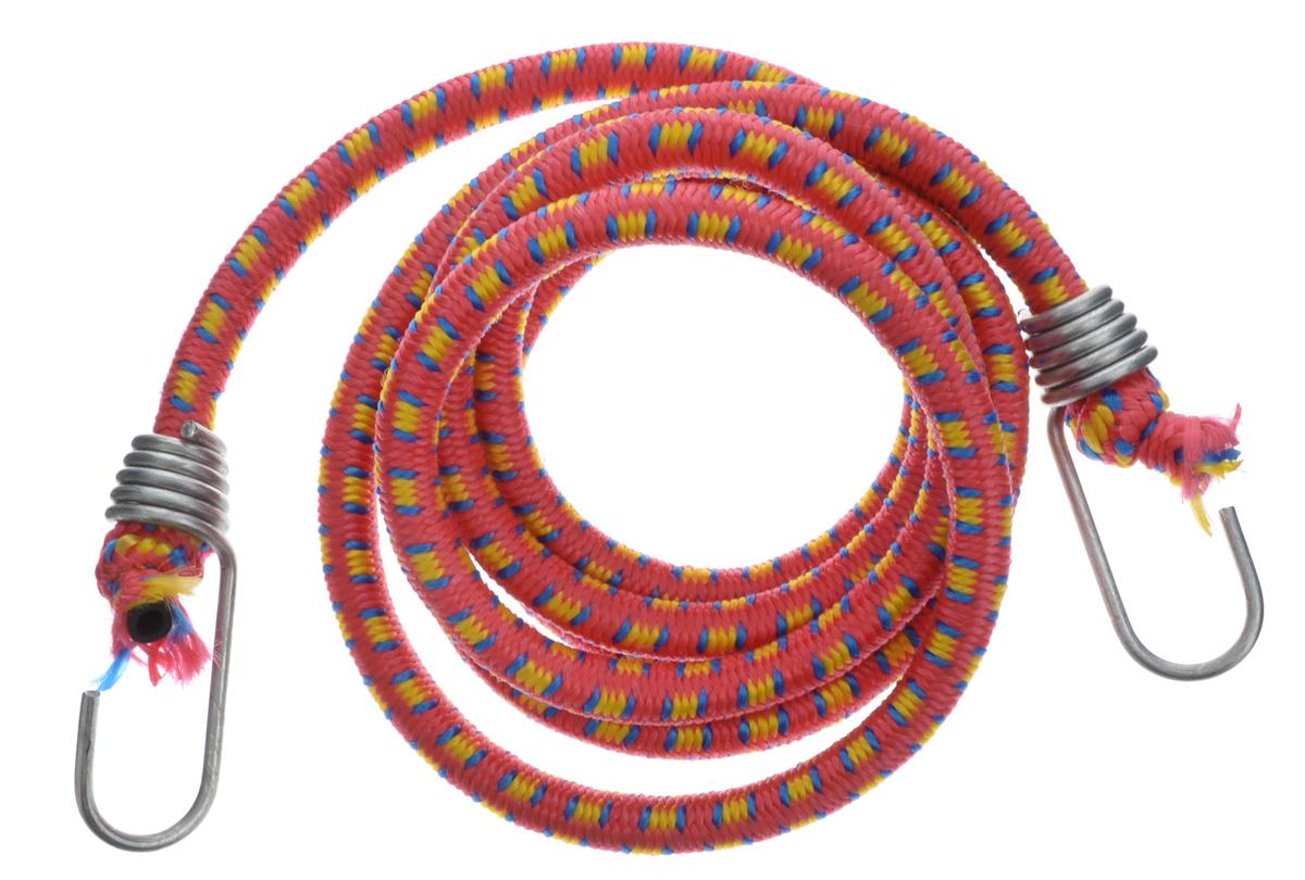 Резинка багажная МастерПроф, с крючками, цвет: красный, желтый, синий, 1 х 190 смАС.020027_красный, желтый, синийБагажная резинка МастерПроф, выполненная из синтетического каучука, оснащена специальными металлическими крюками, которые обеспечивают прочное крепление и не допускают смещения груза во время его перевозки. Изделие применяется для закрепления предметов к багажнику. Такая резинка позволит зафиксировать как небольшой груз, так и довольно габаритный. Температура использования: -15°C до +50°C. Безопасное удлинение: 60%. Толщина резинки: 1 см. Длина резинки: 190 см.