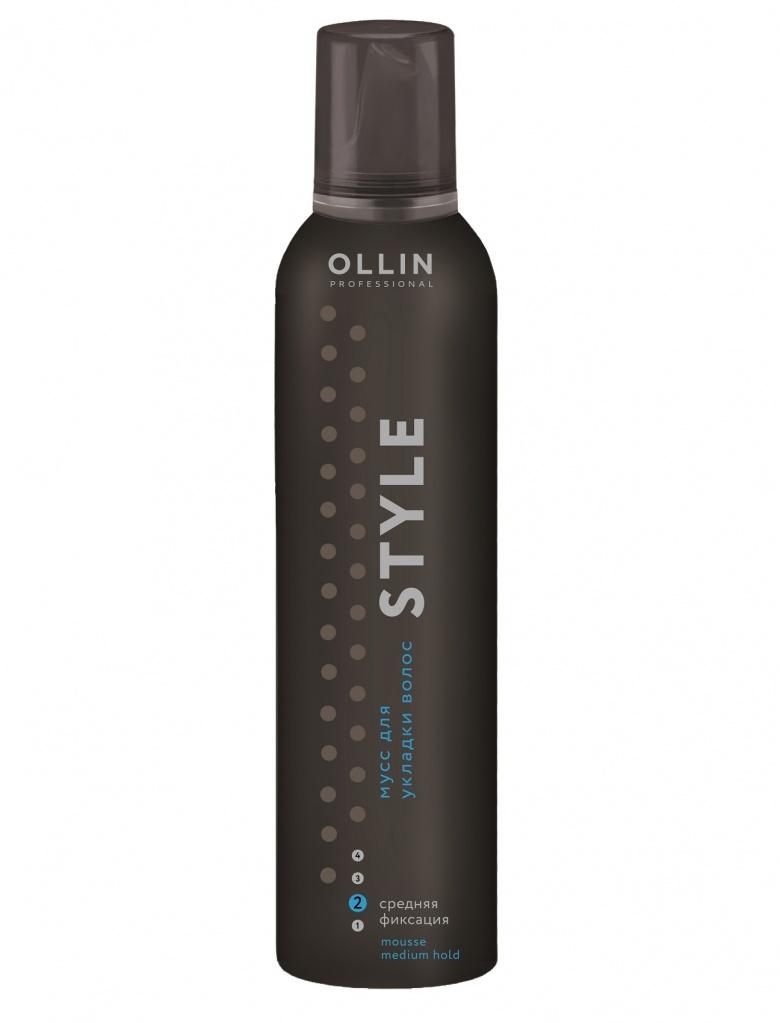 Ollin Мусс для укладки волос средней фиксации Style Mousse 250 мл7296054620753721180/Мусс для укладки волос средней фиксации Ollin Style Mousse Strong надежно фиксирует и придает дополнительный прикорневой объем. Не утяжеляет. Защита волос от агрессивных факторов окружающей среды, и от термического воздействия.