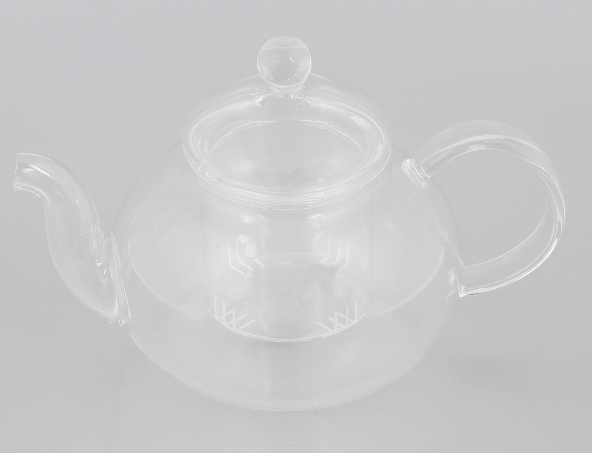 Чайник заварочный Mayer & Boch, с фильтром, 650 мл. 2493524935Заварочный чайник Mayer & Boch изготовлен из термостойкого боросиликатного стекла - прочного износостойкого материала. Изделие оснащено фильтром и крышкой, выполненной из стекла. Простой и удобный чайник поможет вам приготовить крепкий, ароматный чай. Дизайн изделия впишется в интерьер любой кухни. Можно мыть в посудомоечной машине. Не использовать в микроволновой печи. Диаметр (по верхнему краю): 7,5 см. Диаметр основания: 10 см. Высота чайника (без учета крышки): 9,5 см. Высота чайника (с учетом крышки): 14 см. Высота фильтра: 6,8 см.