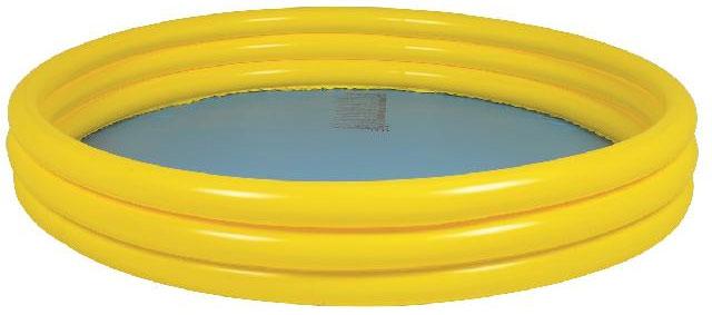 Бассейн надувной Jilong Plain Pool, детский, цвет: желтый, 157 х 157 х 25 смJL010304-1NPFДетский надувной бассейн Jilong Plain Pool будет просто незаменим в летний жаркий день на даче. Бассейн круглой формы выполнен из прочного ПВХ. Упругие стенки бассейна представляют собой три прочных кольца. Яркий дизайн бассейна сделает его не только незаменимым атрибутом летнего отдыха, но и дополнением ландшафтного дизайна участка. В комплект входит самоклеющаяся заплатка. Рекомендуемый возраст: 3-6 лет. Рекомендуемый вес пользователя: 18-30 кг. Обращаем ваше внимание на тот факт, что бассейн поставляется в сдутом виде и надувается при помощи насоса (не входит в комплект). Диаметр: 157 см. Высота: 25 см. Объем бассейна: 300 л.