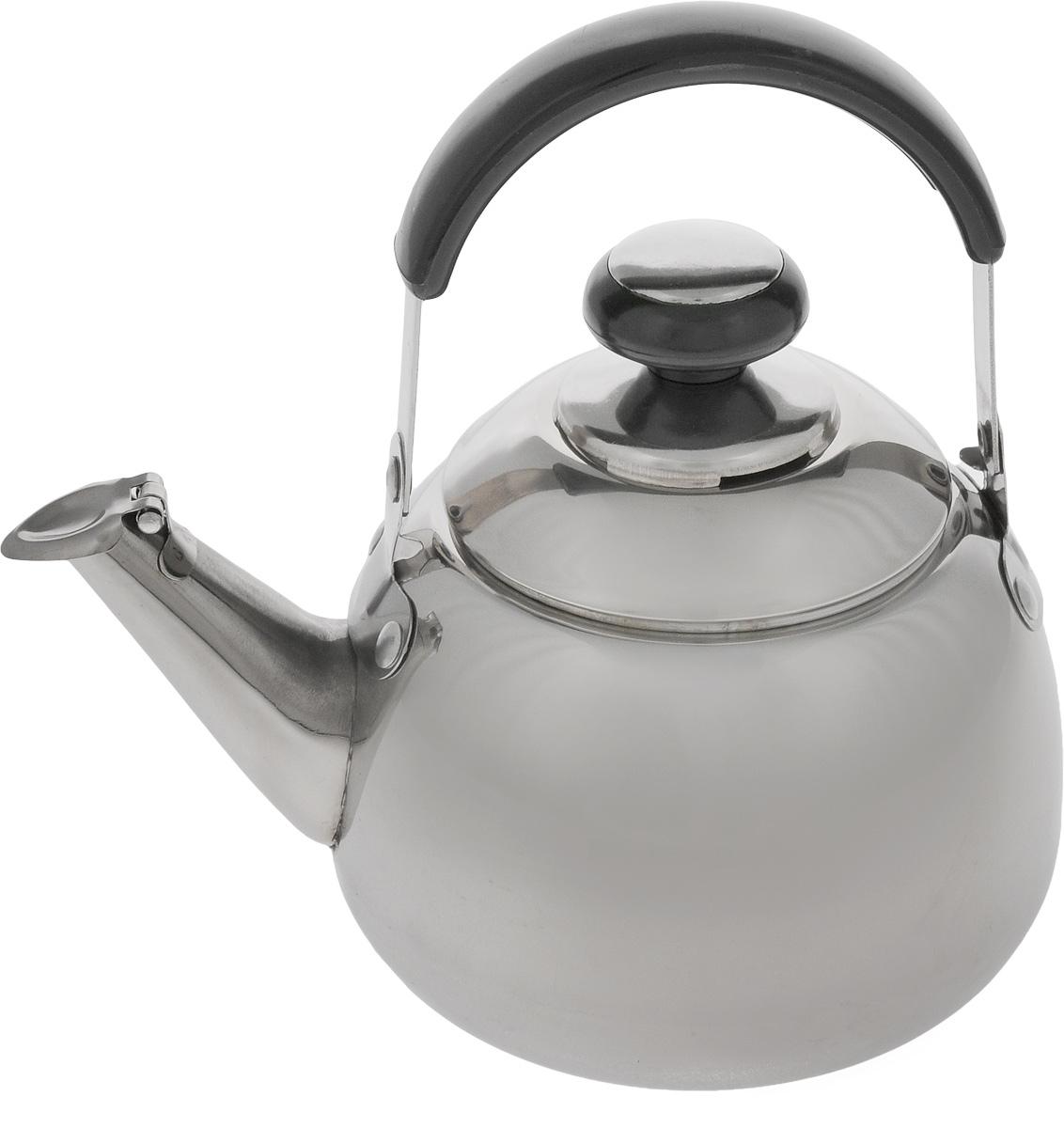Чайник заварочный Mayer & Boch, со свистком и фильтром, 1 л. 11071107Заварочный чайник Mayer & Boch выполнен из высококачественной нержавеющей стали, что обеспечивает долговечность использования. Внешнее зеркальное покрытие придает приятный внешний вид. Бакелитовая ручка делает использование чайника очень удобным и безопасным. Крышка оснащена свистком, что позволит вам контролировать процесс подогрева или кипячения воды. Чайник оснащен фильтром, с помощью которого можно заваривать ваш любимый чай. Подходит для газовых, электрических и стеклокерамических плит. Можно мыть в посудомоечной машине. Диаметр чайника (по верхнему краю): 8 см. Высота чайника (без учета крышки и ручки): 9 см. Высота чайника (с учетом крышки и ручки): 18,5 см. Размер фильтра: 7,5 х 7,5 х 5,5 см.