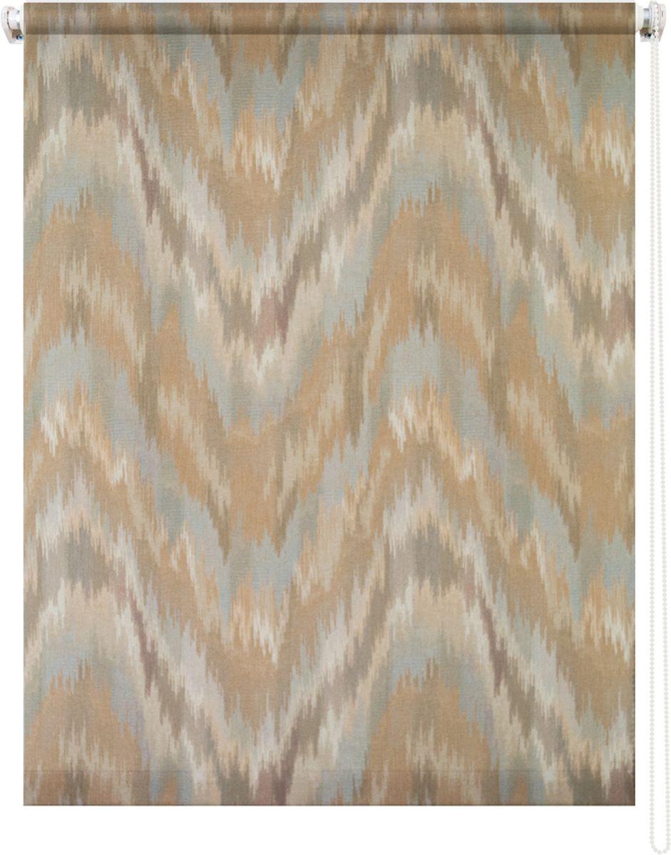 Штора рулонная Уют Майя, 120 х 175 см62.РШТО.8985.120х175Штора рулонная Уют Майя выполнена из прочного полиэстера с обработкой специальным составом, отталкивающим пыль. Ткань не выцветает, обладает отличной цветоустойчивостью и хорошей светонепроницаемостью. Изделие оформлено оригинальным абстрактным узором, отлично подойдет для спальни, кухни, гостиной. Штора закрывает не весь оконный проем, а непосредственно само стекло и может фиксироваться в любом положении. Она быстро убирается и надежно защищает от посторонних взглядов. Компактность помогает сэкономить пространство. Универсальная конструкция позволяет крепить штору на раму без сверления, также можно монтировать на стену, потолок, створки, в проем, ниши, на деревянные или пластиковые рамы. В комплект входят регулируемые установочные кронштейны и набор для боковой фиксации шторы. Возможна установка с управлением цепочкой как справа, так и слева. Изделие при желании можно самостоятельно уменьшить. Такая штора станет прекрасным элементом декора окна и гармонично...