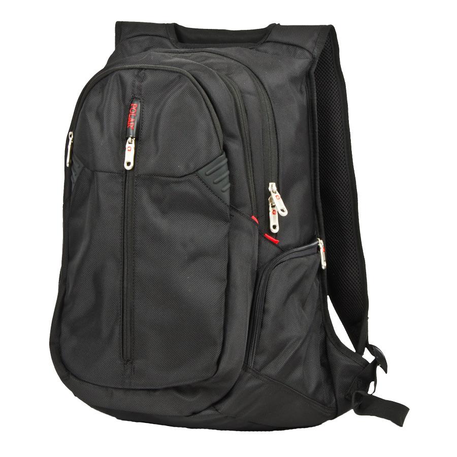 Рюкзак городской Polar, 35 л, цвет: черный. 22252225Рюкзак POLAR для ноутбука. Система циркуляции воздуха AirFlow для комфорта и максимального удобства для спины. Фронтальный карман на молнии. Крепкая ручка для переноски. Специальное отделение для ноутбука до 15 дюймов. Отделение органайзер с разделительными карманами для MP3-плеера, мобильного телефона, письменных принадлежностей и мелких предметов. Два боковых кармана на молнии.