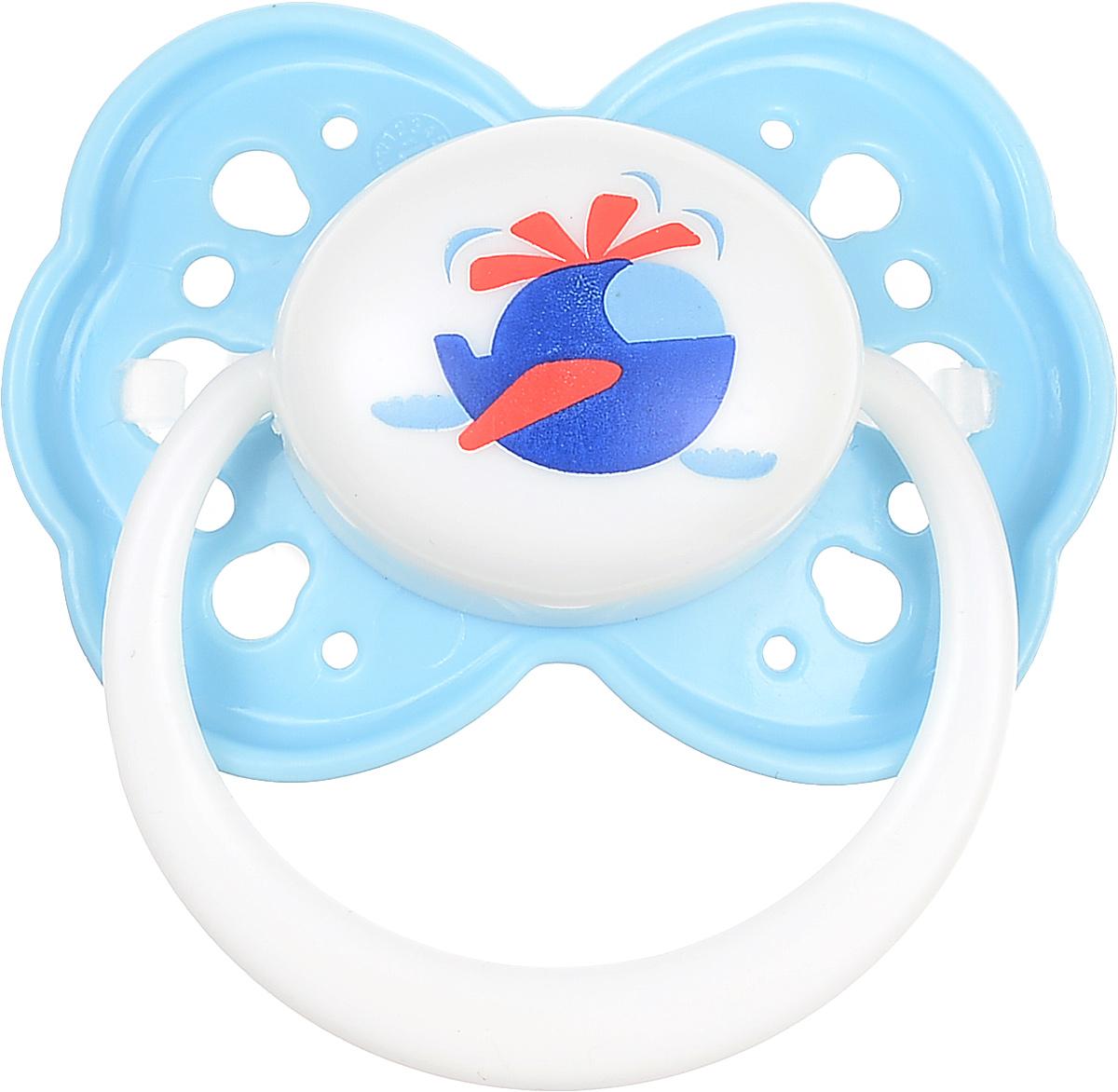 Lubby Пустышка силиконовая Малыши и малышки от 0 месяцев цвет голубой