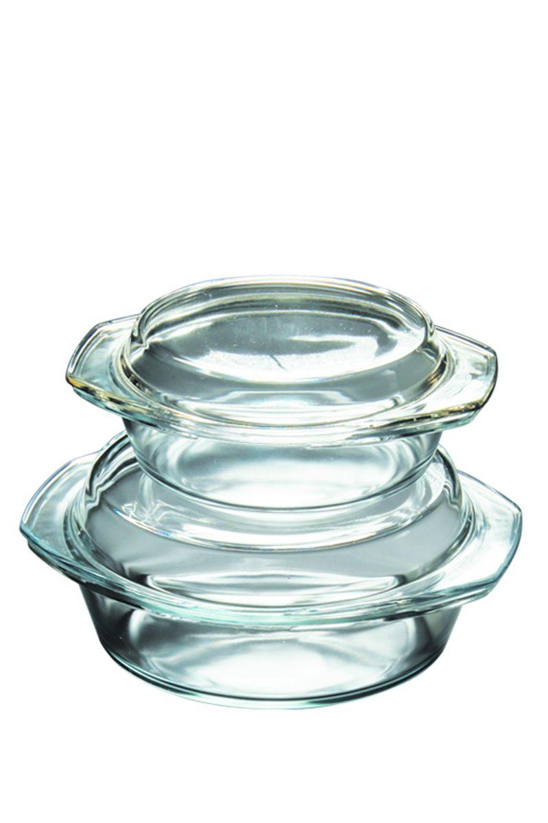 Набор термостойкой посуды Axon, 1 л и 2 лG-711Набор кастрюль из термостойкого стекла с крышками для приготовления блюд в духовке, микроволновой печи, а также для хранения продуктов в холодильнике и морозильной камере.