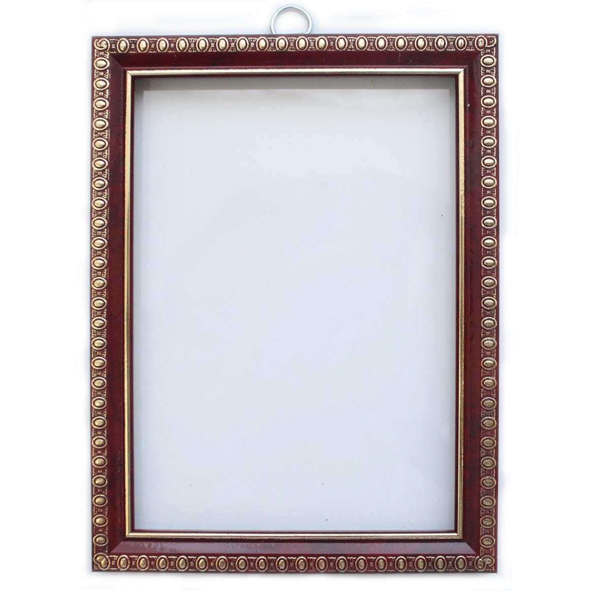 Рама без стекла с прозрачным дном, цвет: вишня, 13х18 см. RAM111007498370Рамы предназначены для оформления картин, фотографий. Обрамленные такой рамкой работы, сразу же преображаются и приобретают завершенный вид.