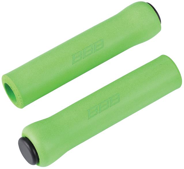 Грипсы BBB Sticky, цвет: зеленый, 13 см, 2 шт. BHG-341100Легкие и комфортные грипсы BBB Sticky имеют вибро- и ударопоглощающими свойства. Они предназначены для более удобного управления велосипедом. Силиконовое покрытие обеспечивает прекрасное сцепление с перчатками.Заглушки руля в комплекте.Длина грипс: 13 см.Вес: 49 г.