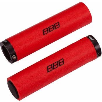 Грипсы BBB StickyFix, цвет: красный, 13 см, 2 штRivaCase 7560 redЛегкие грипсы BBB StickyFix выполнены из силикона с алюминиевыми хомутами для фиксации. Винтовой хомут исключает проворачивание грипсы на руле. Силикон обеспечивает отличную хватку и виброгашение.В комплекте две заглушки руля.