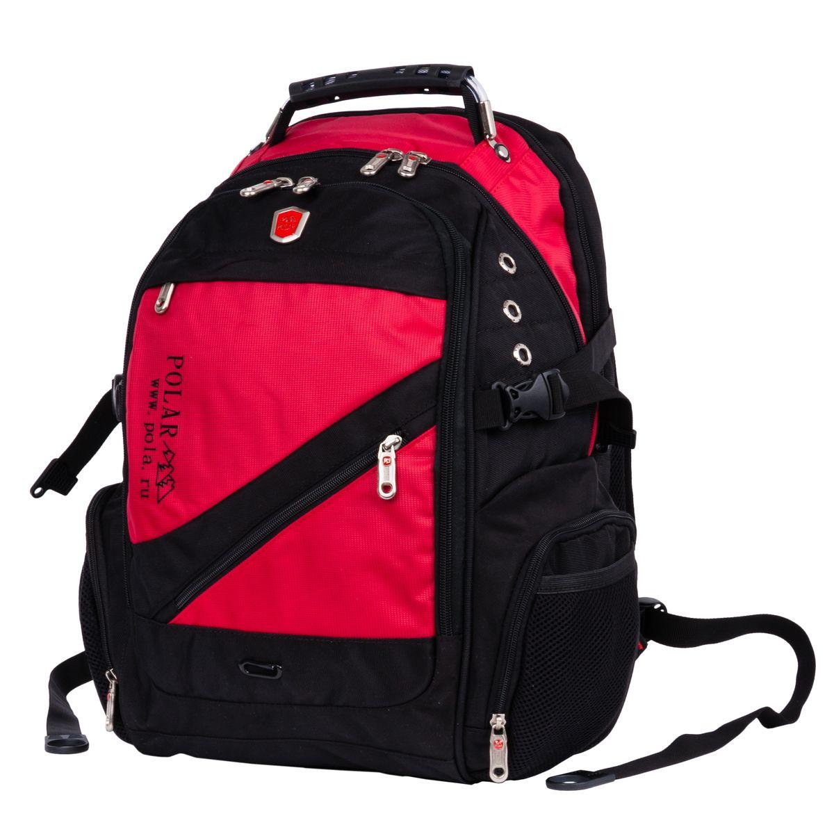 Рюкзак городской Polar, 28,5 л, цвет: красный. 983017983017Рюкзак POLAR для ноутбука. Верхняя ручка с металлическим тросом и держателями.В комплекте идет универсальный переходник- удлинитель для наушников 3,5 мм выход на левой лямке рюкзака. Система циркуляции воздуха AirFlow для комфорта и максимального удобства для спины. Плечевые ремни анатомической формы. Эргономичная и крепкая ручка для переноски. Внутренний карман для безопасного размещения CD или MP3-плеера. Специальное отделение для ноутбука до 15. Петля для солнцезащитных очков. Карман для мобильного телефона на правой лямке рюкзака. Два боковых кармана на молнии и два кармана для бутылки с водой. Карман органайзер для мелких предметов. Съёмный карабин для ключей. Фронтальный карман на молнии.