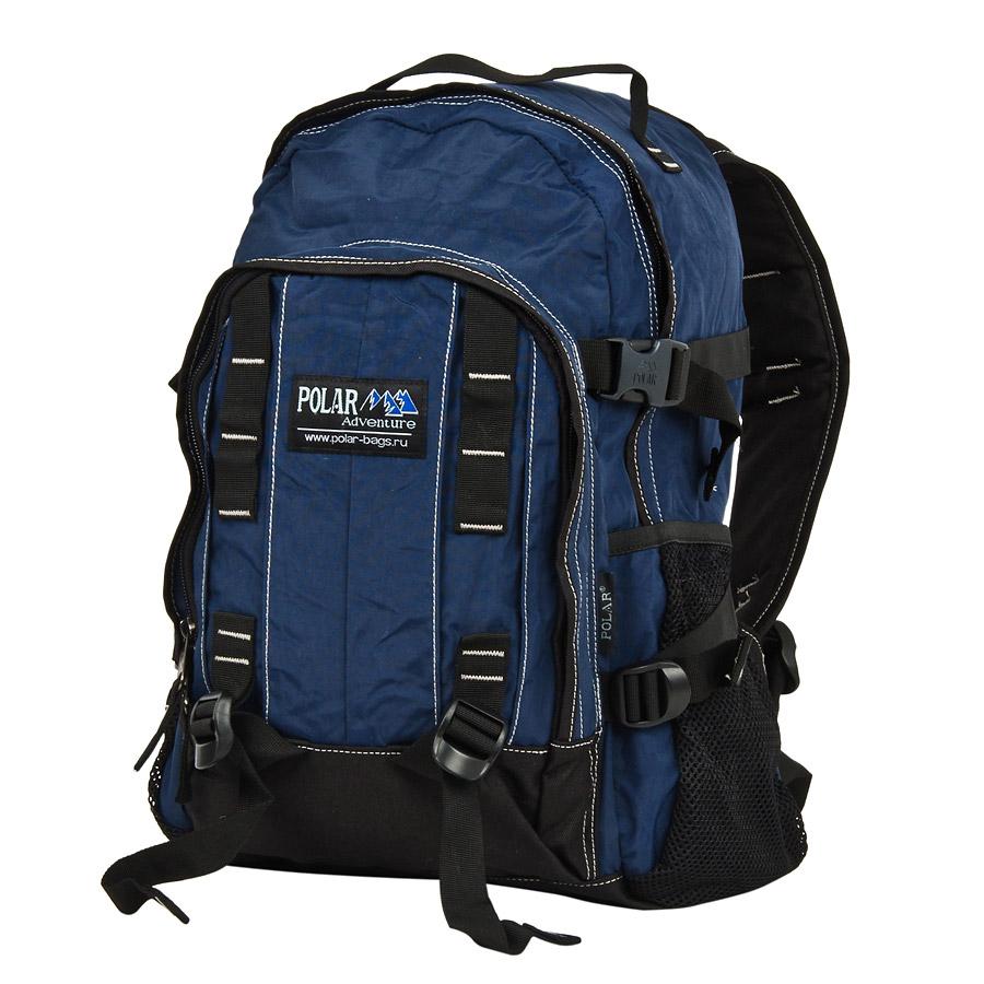 Рюкзак городской Polar, 29 л, цвет: синий. П876-0456D-31001Городской рюкзак с модным дизайном. Полностью вентилируемая и удобная мягкая спинка, мягкие плечевые лямки создают дополнительный комфорт при ношении. Центральный отсек для персональных вещей и документов A4 на двухсторонних молниях для удобства. Маленький карман для mp3, CD плеера. Два боковых кармана под бутылки с водой на резинке. Система циркуляции воздуха Air. Материал Polyester.