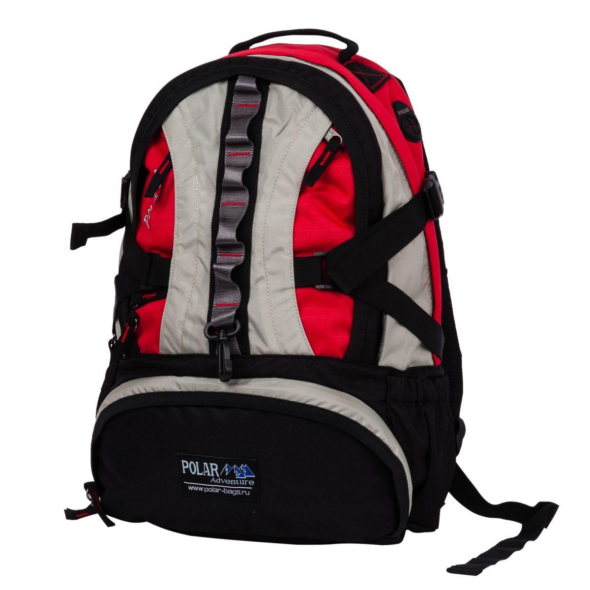 Рюкзак городской Polar, 27 л, цвет: красный. П1003-01BP-001 BKГородской рюкзак с модным дизайном предназначенный для города, путешествий и активного отдыха. Полностью вентилируемая и удобная спинка c системой циркуляции воздуха Air, мягкие плечевые лямки создают дополнительный комфорт при ношении. Основное отделение с внутренним отделением на молниях. Большие карманы для аксессуаров и персональных вещей. Центральный отсек для персональных вещей и документов A4 на двухсторонних молниях для удобства. Большой отсек для спортивной обуви т.п. Маленький карман для mp3, CD плеера. Выход для наушников. Два боковых кармана под бутылки с водой. Дождевик защищает рюкзак от намокания в дождливую погоду. Регулируемые ремни дают возможность крепления на рюкзак дополнительного оборудования. Регулируемая грудная стяжка с удобным фиксатором. Регулирующий поясной ремень удерживает плотно рюкзак на спине, что очень удобно при езде на велосипеде или продолжительных походах.