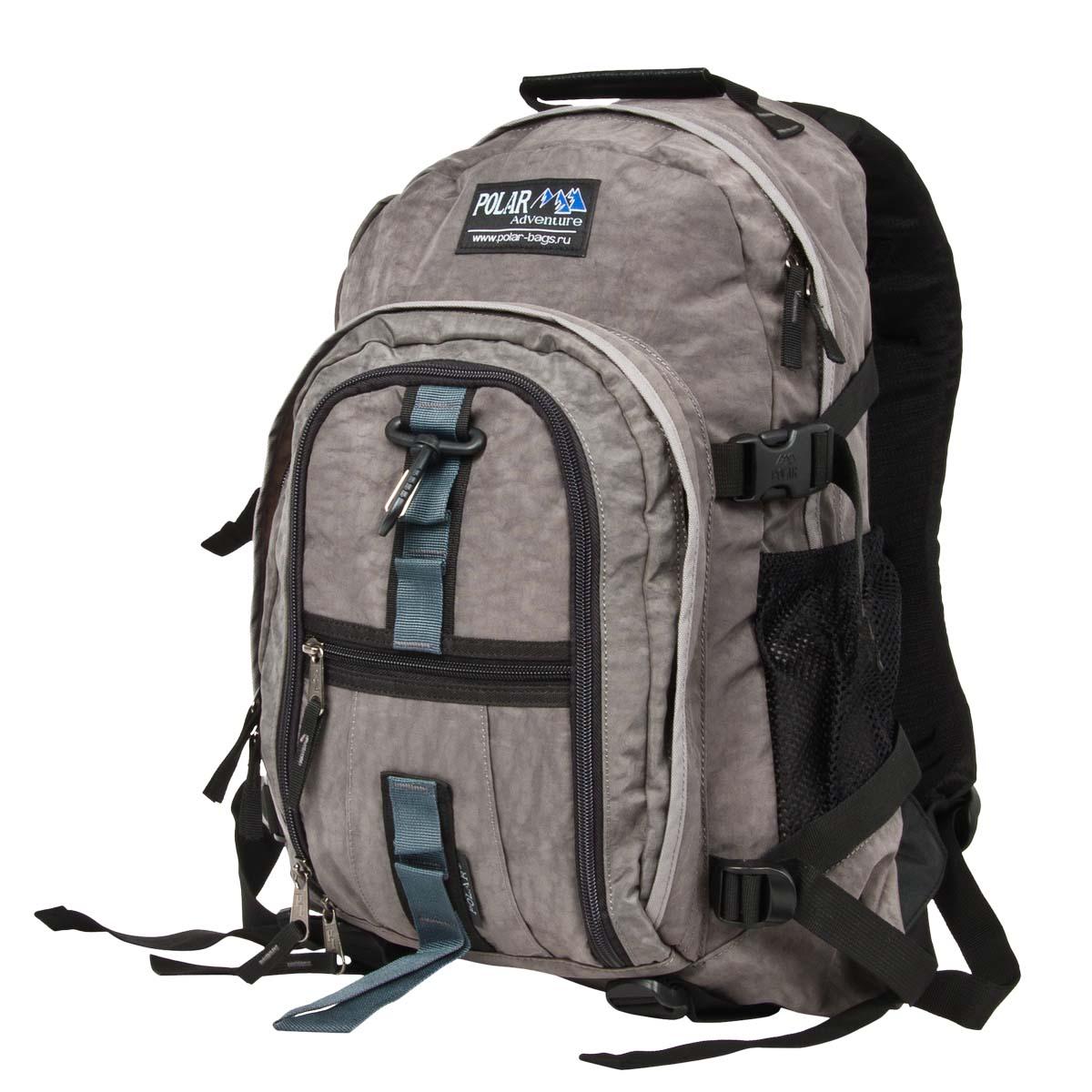 Рюкзак городской Polar, 27 л, цвет: темно-серый. П1955-06П1955-06Городской рюкзак с модным дизайном. Полностью вентилируемая и удобная мягкая спинка, мягкие плечевые лямки создают дополнительный комфорт при ношении. Центральный отсек для персональных вещей и документов A4 на двухсторонних молниях для удобства. Маленький карман для mp3, CD плеера. Два боковых кармана под бутылки с водой на резинке. Регулирующая грудная стяжка с удобным фиксатором. Регулирующий поясной ремень, удерживает плотно рюкзак на спине, что очень удобно при езде на велосипеде или продолжительных походах. Система циркуляции воздуха Air. Материал Polyester.