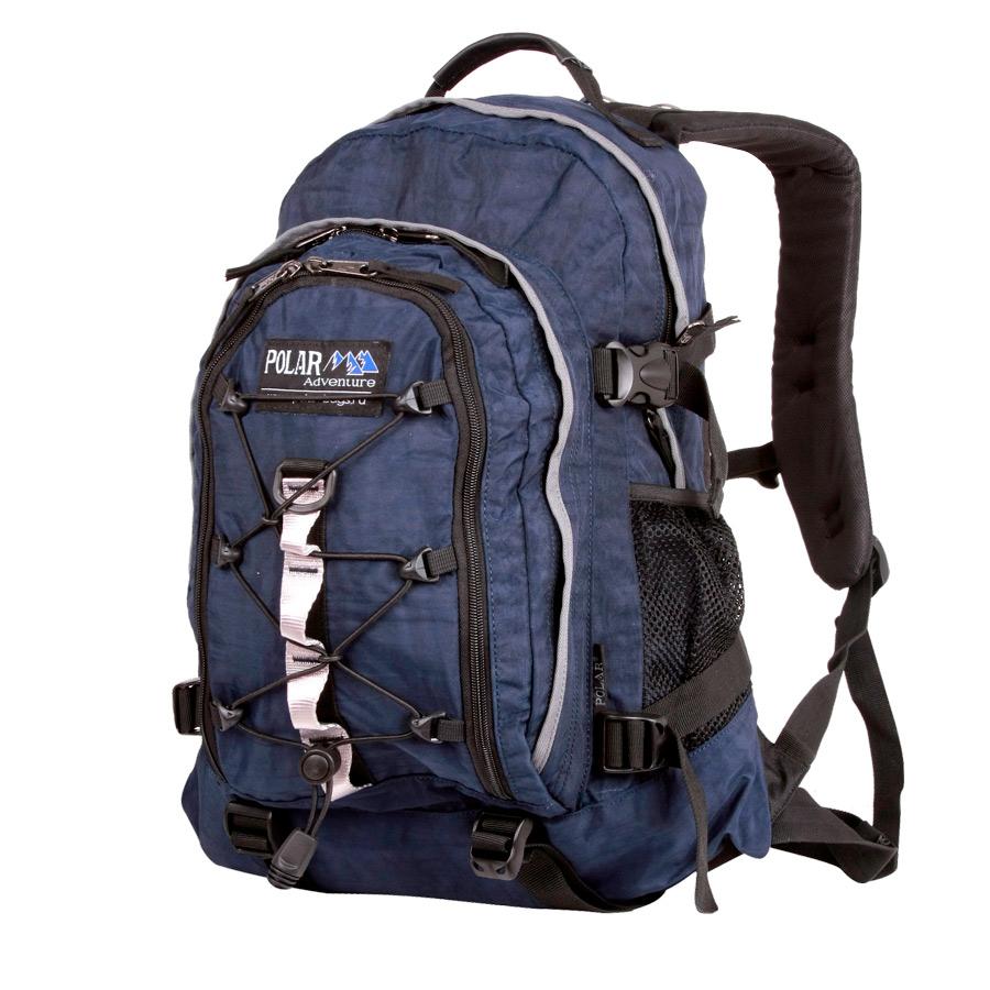 Рюкзак городской Polar, 27 л, цвет: синий. П1956-04Z90 blackГородской рюкзак с модным дизайном. Полностью вентилируемая и удобная мягкая спинка, мягкие плечевые лямки создают дополнительный комфорт при ношении. Центральный отсек для персональных вещей и документов A4 на двухсторонних молниях для удобства. Маленький карман для mp3, CD плеера. Петли для снаряжения дают возможность крепления на рюкзак дополнительного оборудования. Два боковых кармана под бутылки с водой на резинке. Регулирующая грудная стяжка с удобным фиксатором. Регулирующий поясной ремень, удерживает плотно рюкзак на спине, что очень удобно при езде на велосипеде или продолжительных походах. Система циркуляции воздуха Air. Материал Polyester.