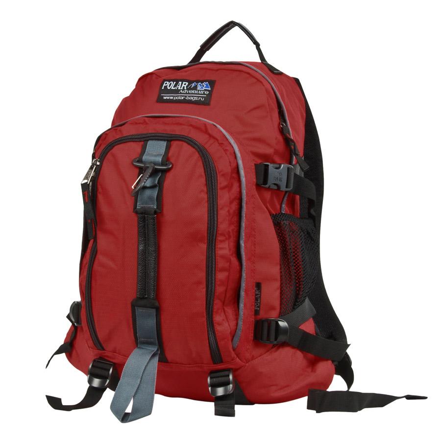 Рюкзак городской Polar, 27 л, цвет: бордовый. П3955-1473298с-1Городской рюкзак с модным дизайном. Полностью вентилируемая и удобная мягкая спинка, мягкие плечевые лямки создают дополнительный комфорт при ношении. Центральный отсек для персональных вещей и документов A4 на двухсторонних молниях для удобства. Маленький карман для mp3, CD плеера. Два боковых кармана под бутылки с водой на резинке. Регулирующая грудная стяжка с удобным фиксатором. Регулирующий поясной ремень, удерживает плотно рюкзак на спине, что очень удобно при езде на велосипеде или продолжительных походах. Система циркуляции воздуха Air. Материал Polyester PU 600D.