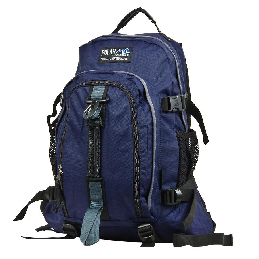 Рюкзак городской Polar, 27 л, цвет: синий. П3955-04ЛЦ0009Городской рюкзак с модным дизайном. Полностью вентилируемая и удобная мягкая спинка, мягкие плечевые лямки создают дополнительный комфорт при ношении. Центральный отсек для персональных вещей и документов A4 на двухсторонних молниях для удобства. Маленький карман для mp3, CD плеера. Два боковых кармана под бутылки с водой на резинке. Регулирующая грудная стяжка с удобным фиксатором. Регулирующий поясной ремень, удерживает плотно рюкзак на спине, что очень удобно при езде на велосипеде или продолжительных походах. Система циркуляции воздуха Air. Материал Polyester PU 600D.