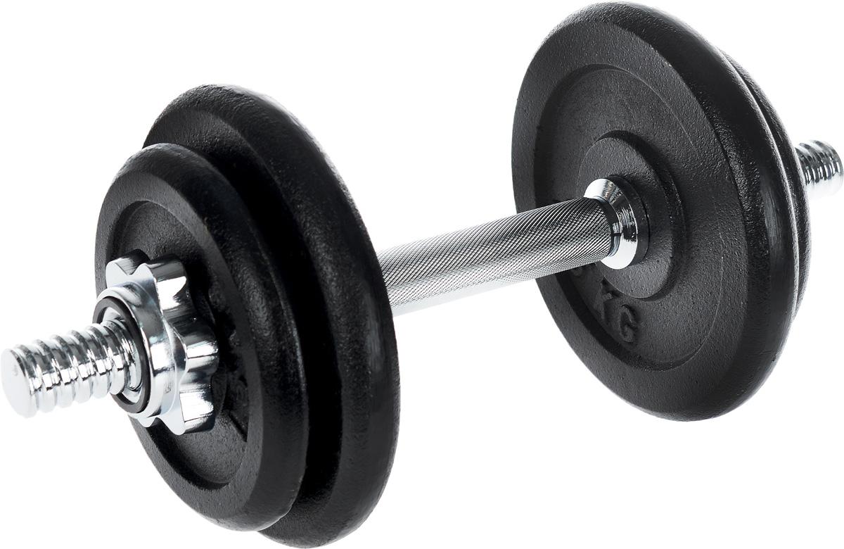 Гантель сборная Andy, с 4 сменными блинами, 10 кг14630019671330Сборная гантель Andy состоит из 4 дисков и хромированного грифа. Гантель помогает укрепить мышцы рук, грудной клетки, верхней части спины и плеч. Благодаря небольшому размеру гантель удобно хранить, она не займет много места в квартире.Внутренний диаметр дисков: 25 мм. В комплект входят 4 диска: 2 х 1,5 кг, 2 х 2,5 кг. Длина грифа: 35 см. В комплекте замок-гайка: 2 шт. Общий вес гантели: 10 кг.