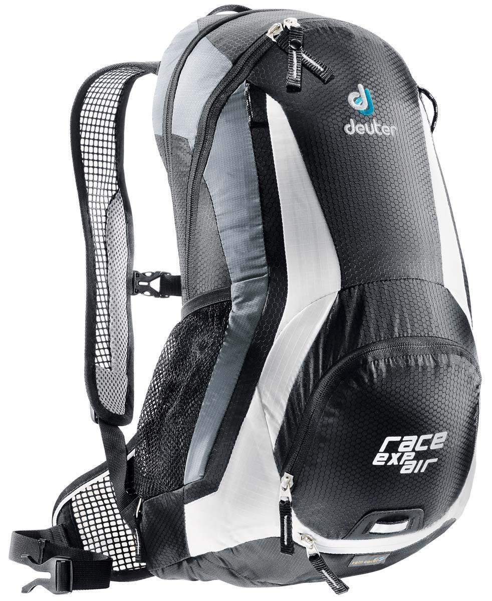 Рюкзак спортивный Deuter Bike Race EXP Air, цвет: черно-белый, 15 л велорюкзак deuter giga bike с отделением для ноутбука 28 л 80444 3980 сине голубой