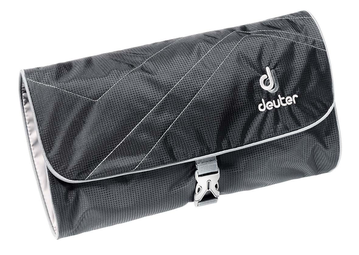 Косметичка Deuter Accessories Wash Bag II, цвет: черный, темно-серый39434_7490Где бы вы не оказались, эта большая сумка Deuter Wash bag II с откидным верхом позволит вам начинать каждый день в чистоте. Большой крючок позволяет подвесить ее где угодно.