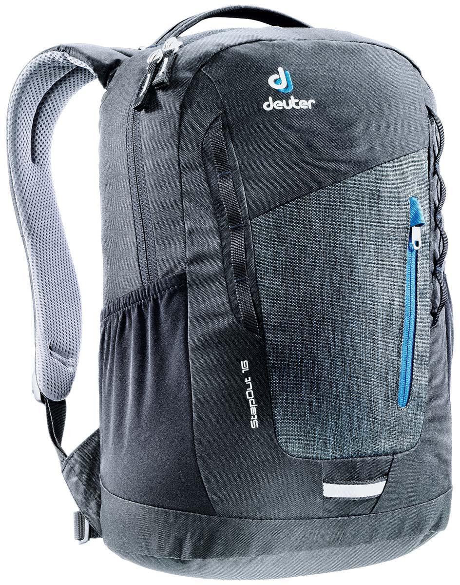 Рюкзак Deuter Daypacks StepOut 16, цвет: черный, серый, 16 лSCCB-UT1-691Рюкзак Deuter Daypacks StepOut - это новый удобный рюкзак для города с отделениями для документов. Особенности: Система спинки Airstripes; Плечевые лямки анатомической формы; Отделение для документов; Фронтальный карман на молнии со съемным карабином для ключей; Эластичные боковые карманы; Петля для фонарика безопасности; Ручка для переноски; Петли для навески. Размер рюкзака: 41 х 24 х 14 см.