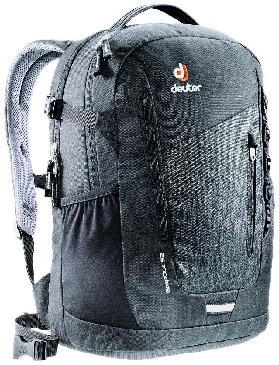 Рюкзак Deuter Daypacks StepOut 22, цвет: черный, серый, 22л рюкзак deuter daypacks giga pro цвет черный серый 31 л