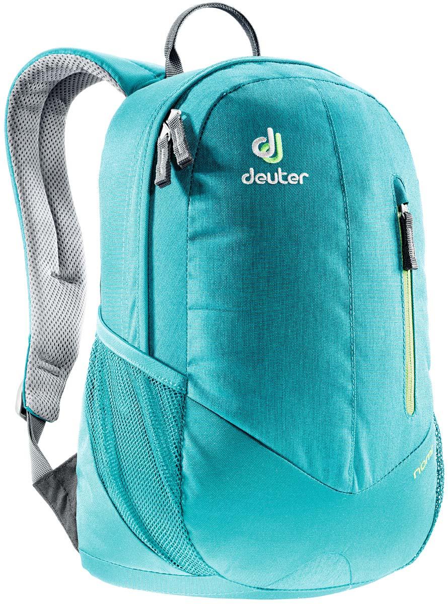 Рюкзак Deuter Nomi, цвет: бирюзовый, 16л83739_3027Небольшой легкий рюкзак каплевидной формы полностью повторяет изгибы вашей спины во время движения. Рюкзак обладает небольшим весом и отличной функциональностью.