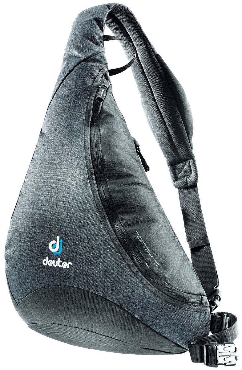 Сумка Deuter Tommy M, цвет: черный, серый, 8л81213_7712Сумка-рюкзак Deuter Tommy M Идеальное сочетание рюкзака и сумки. Рюкзак Deuter Tommy S поставляется в двух размерах. Его новый спортивный стиль подходит как для городских прогулок, так и для туров на открытом воздухе.